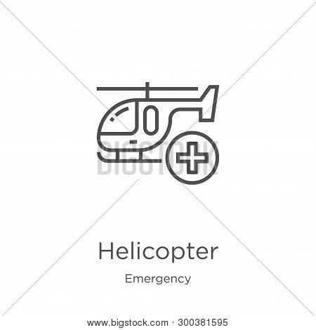 Helicopter Icon Isolated On White Background From Emergency Collection. Helicopter Icon Trendy And M