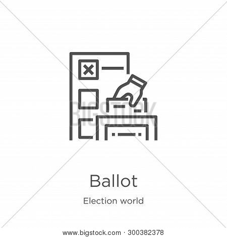 Ballot Icon Isolated On White Background From Election World Collection. Ballot Icon Trendy And Mode