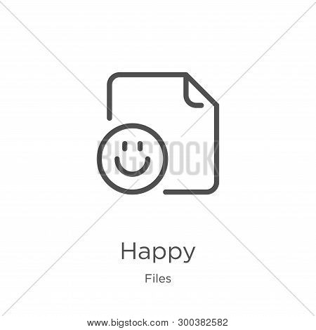 Happy Icon Isolated On White Background From Files Collection. Happy Icon Trendy And Modern Happy Sy