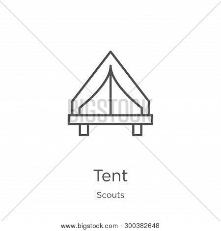Tent Icon Isolated On White Background From Scouts Collection. Tent Icon Trendy And Modern Tent Symb