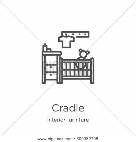Cradle Icon Isolated On White Background From Interior Furniture Collection. Cradle Icon Trendy And