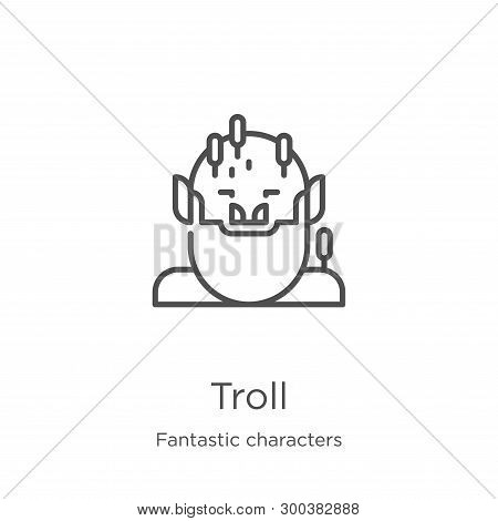 Troll Icon Isolated On White Background From Fantastic Characters Collection. Troll Icon Trendy And