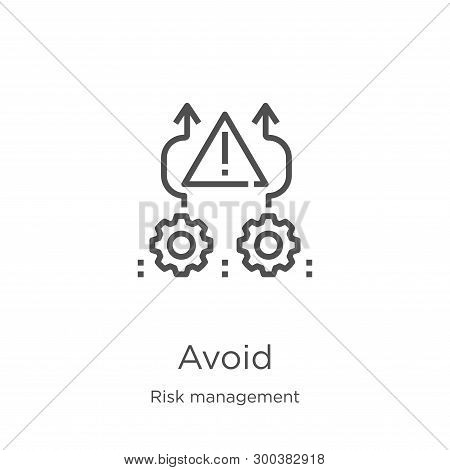 Avoid Icon Isolated On White Background From Risk Management Collection. Avoid Icon Trendy And Moder