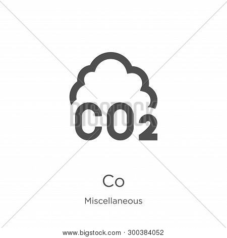 Co Icon Isolated On White Background From Miscellaneous Collection. Co Icon Trendy And Modern Co Sym