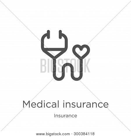 Medical Insurance Icon Isolated On White Background From Insurance Collection. Medical Insurance Ico