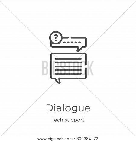 Dialogue Icon Isolated On White Background From Tech Support Collection. Dialogue Icon Trendy And Mo