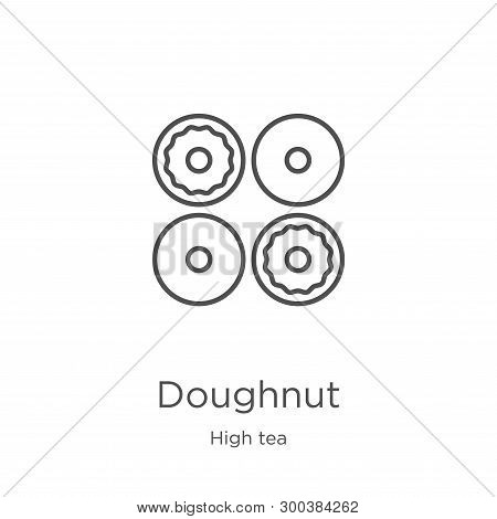 Doughnut Icon Isolated On White Background From High Tea Collection. Doughnut Icon Trendy And Modern
