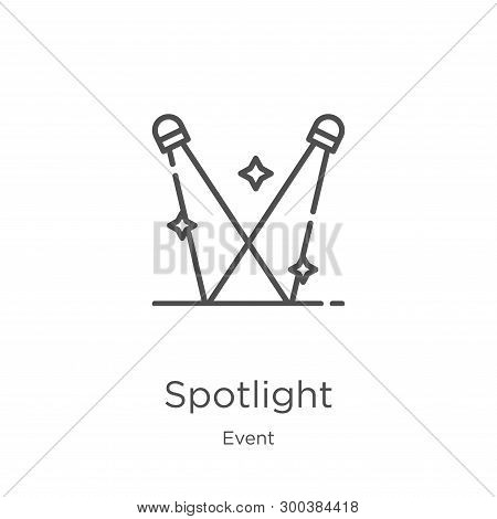 Spotlight Icon Isolated On White Background From Event Collection. Spotlight Icon Trendy And Modern