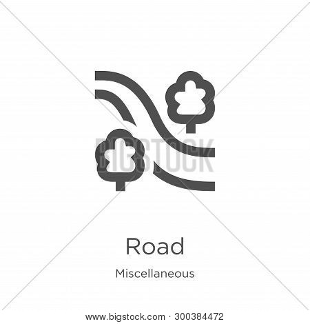 Road Icon Isolated On White Background From Miscellaneous Collection. Road Icon Trendy And Modern Ro