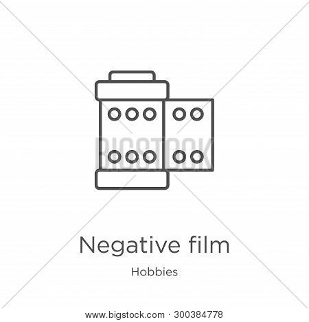 Negative Film Icon Isolated On White Background From Hobbies Collection. Negative Film Icon Trendy A