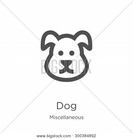 Dog Icon Isolated On White Background From Miscellaneous Collection. Dog Icon Trendy And Modern Dog
