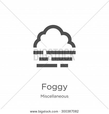 Foggy Icon Isolated On White Background From Miscellaneous Collection. Foggy Icon Trendy And Modern