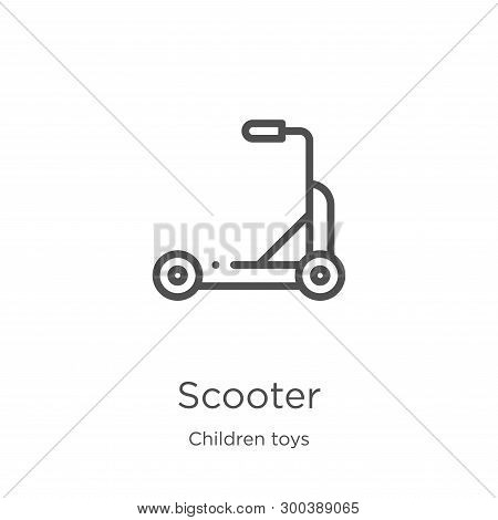Scooter Icon Isolated On White Background From Children Toys Collection. Scooter Icon Trendy And Mod