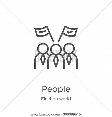 People Icon Isolated On White Background From Election World Collection. People Icon Trendy And Mode