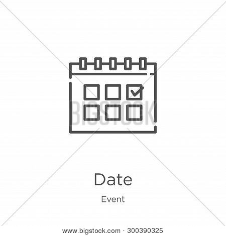Date Icon Isolated On White Background From Event Collection. Date Icon Trendy And Modern Date Symbo