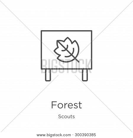Forest Icon Isolated On White Background From Scouts Collection. Forest Icon Trendy And Modern Fores
