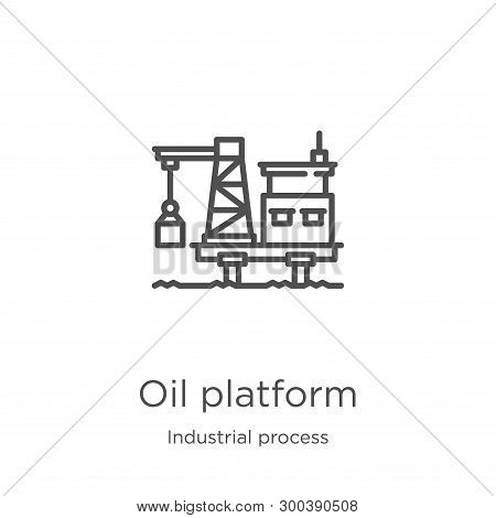 Oil Platform Icon Isolated On White Background From Industrial Process Collection. Oil Platform Icon