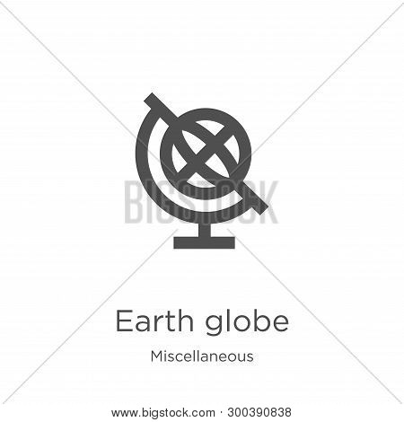 Earth Globe Icon Isolated On White Background From Miscellaneous Collection. Earth Globe Icon Trendy