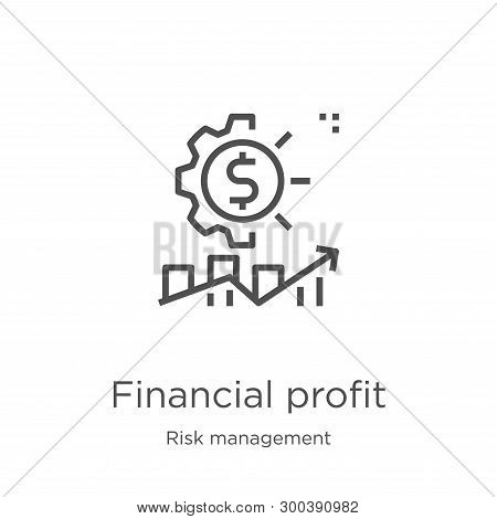 Financial Profit Icon Isolated On White Background From Risk Management Collection. Financial Profit