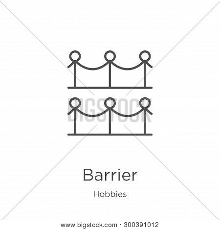 Barrier Icon Isolated On White Background From Hobbies Collection. Barrier Icon Trendy And Modern Ba