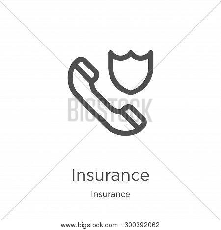 Insurance Icon Isolated On White Background From Insurance Collection. Insurance Icon Trendy And Mod