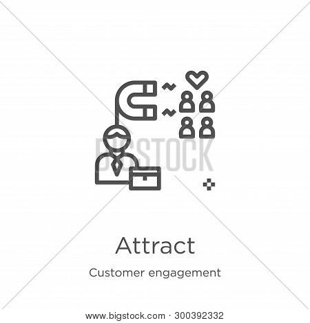 Attract Icon Isolated On White Background From Customer Engagement Collection. Attract Icon Trendy A