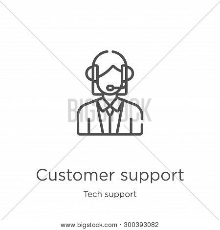 Customer Support Icon Isolated On White Background From Tech Support Collection. Customer Support Ic