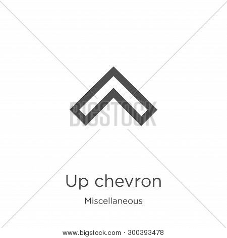 Up Chevron Icon Isolated On White Background From Miscellaneous Collection. Up Chevron Icon Trendy A