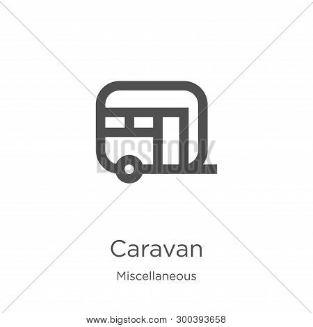 Caravan Icon Isolated On White Background From Miscellaneous Collection. Caravan Icon Trendy And Mod