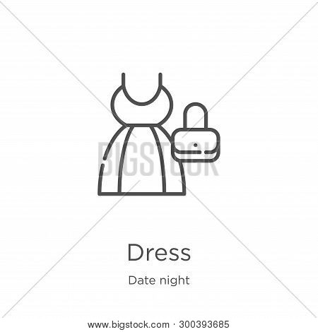 Dress Icon Isolated On White Background From Date Night Collection. Dress Icon Trendy And Modern Dre