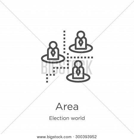 Area Icon Isolated On White Background From Election World Collection. Area Icon Trendy And Modern A