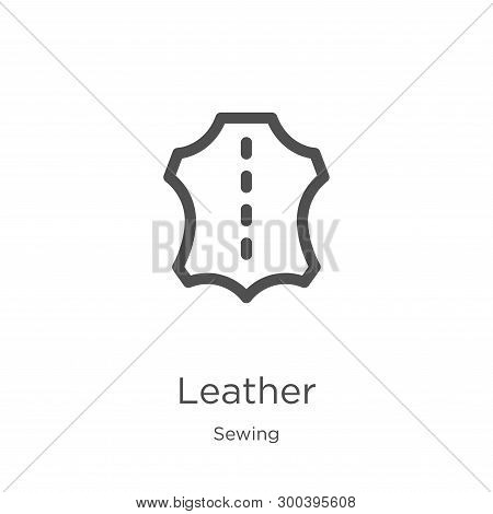 Leather Icon Isolated On White Background From Sewing Collection. Leather Icon Trendy And Modern Lea
