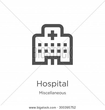 Hospital Icon Isolated On White Background From Miscellaneous Collection. Hospital Icon Trendy And M