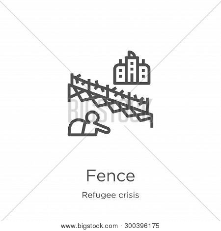 Fence Icon Isolated On White Background From Refugee Crisis Collection. Fence Icon Trendy And Modern