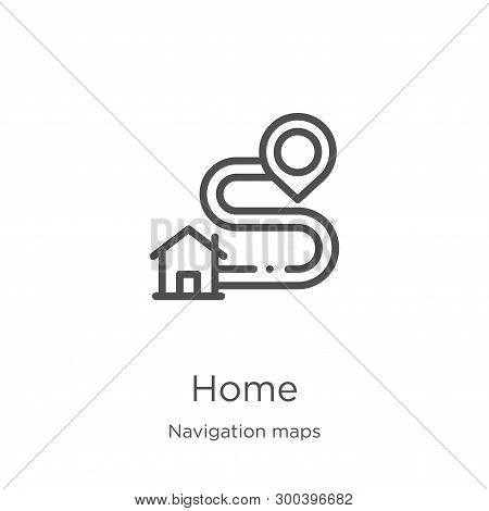 Home Icon Isolated On White Background From Navigation Maps Collection. Home Icon Trendy And Modern
