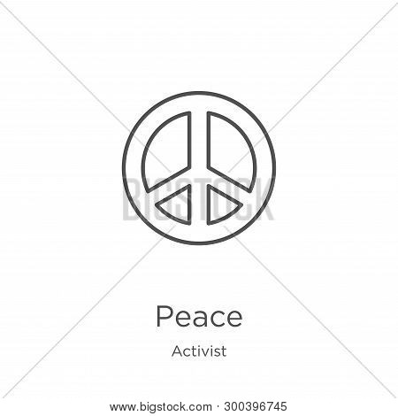 Peace Icon Isolated On White Background From Activist Collection. Peace Icon Trendy And Modern Peace