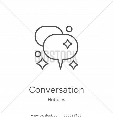 Conversation Icon Isolated On White Background From Hobbies Collection. Conversation Icon Trendy And
