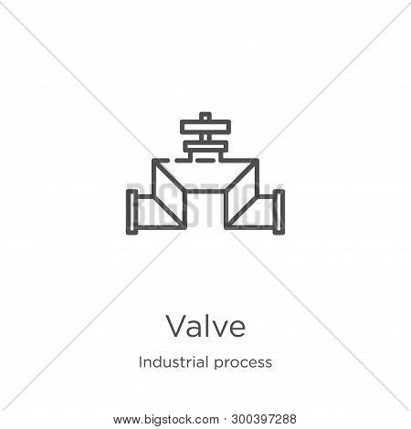 Valve Icon Isolated On White Background From Industrial Process Collection. Valve Icon Trendy And Mo