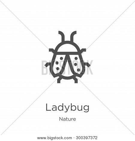 Ladybug Icon Isolated On White Background From Nature Collection. Ladybug Icon Trendy And Modern Lad