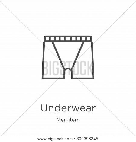 Underwear Icon Isolated On White Background From Men Item Collection. Underwear Icon Trendy And Mode