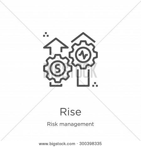 Rise Icon Isolated On White Background From Risk Management Collection. Rise Icon Trendy And Modern