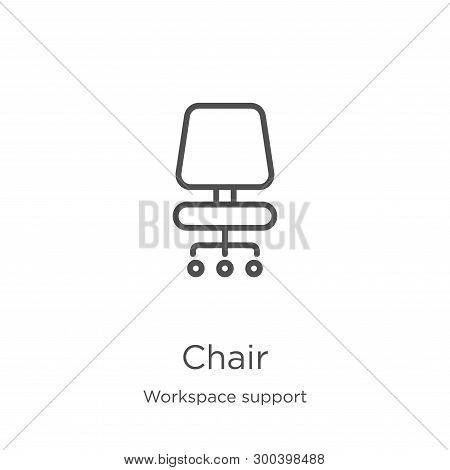 Chair Icon Isolated On White Background From Workspace Support Collection. Chair Icon Trendy And Mod