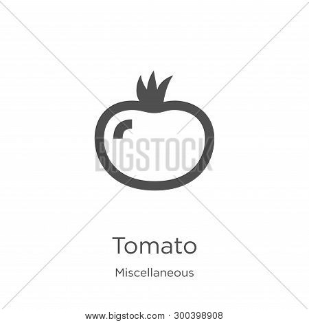 Tomato Icon Isolated On White Background From Miscellaneous Collection. Tomato Icon Trendy And Moder
