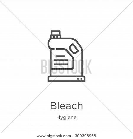 Bleach Icon Isolated On White Background From Hygiene Collection. Bleach Icon Trendy And Modern Blea