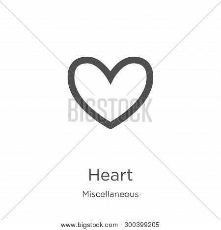 Heart Icon Isolated On White Background From Miscellaneous Collection. Heart Icon Trendy And Modern
