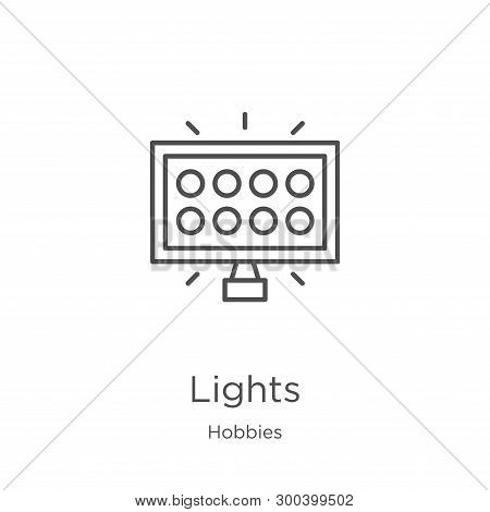 Lights Icon Isolated On White Background From Hobbies Collection. Lights Icon Trendy And Modern Ligh