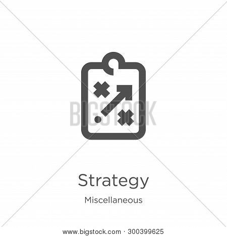 Strategy Icon Isolated On White Background From Miscellaneous Collection. Strategy Icon Trendy And M