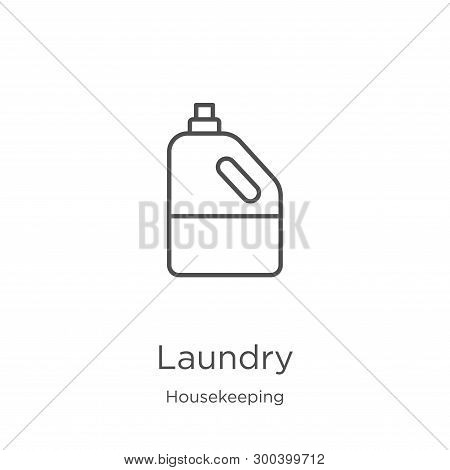 Laundry Icon Isolated On White Background From Housekeeping Collection. Laundry Icon Trendy And Mode