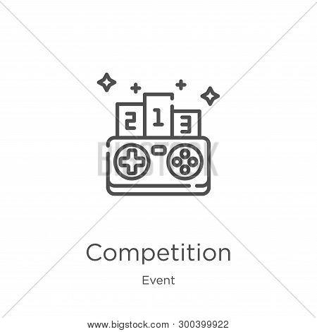 Competition Icon Isolated On White Background From Event Collection. Competition Icon Trendy And Mod
