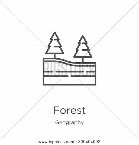 Forest Icon Isolated On White Background From Geography Collection. Forest Icon Trendy And Modern Fo